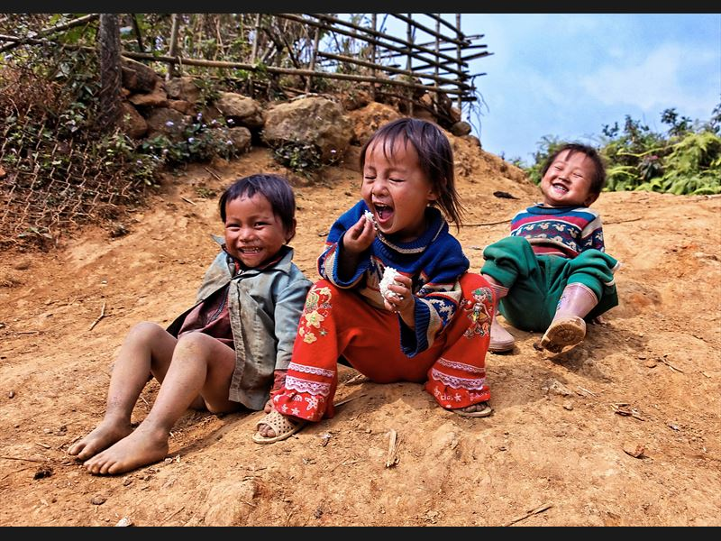Kinder in Bac Ha Vietnam
